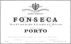 Wine label: Fonsecs Guimaraens, Tawny Port